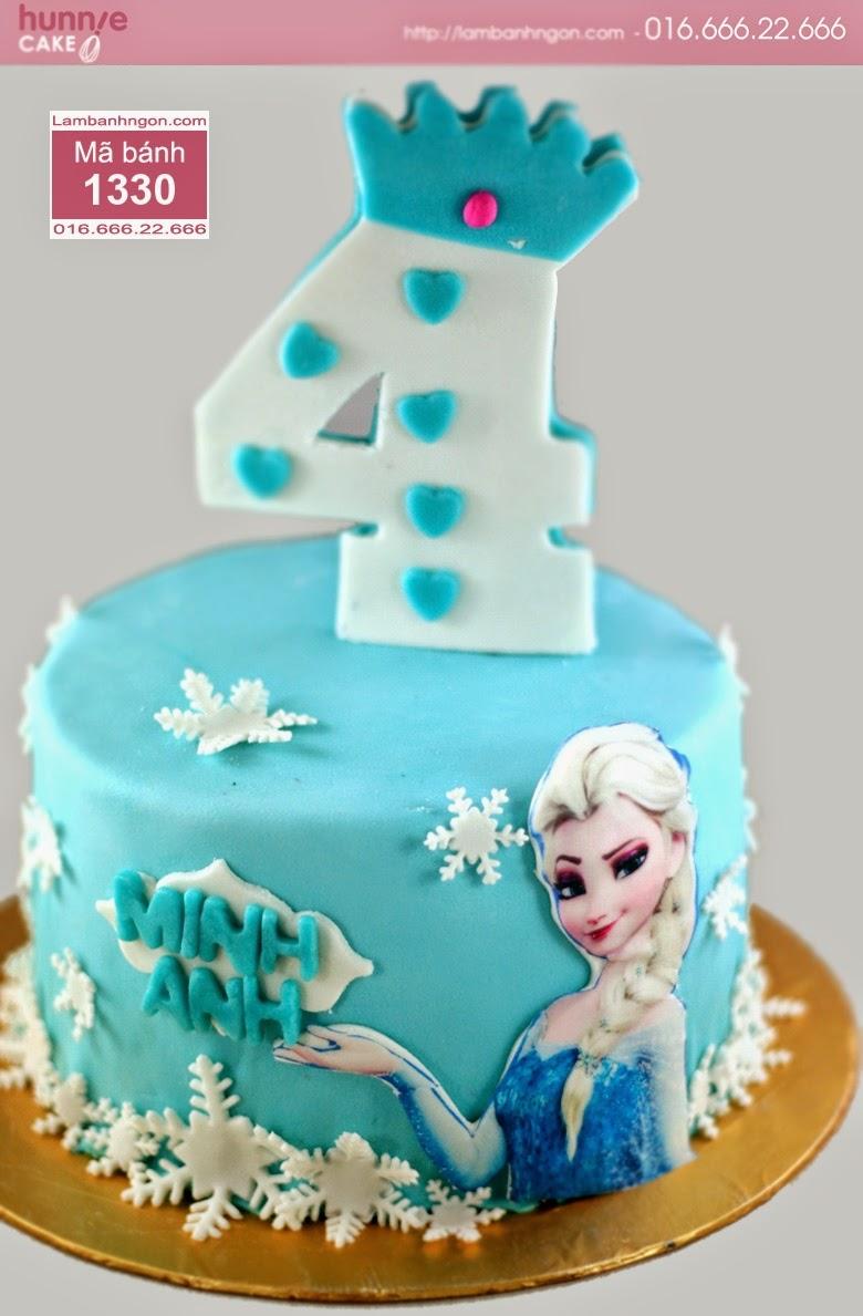 Bánh in ảnh hình chữ nhật Elsa rất đáng yêu